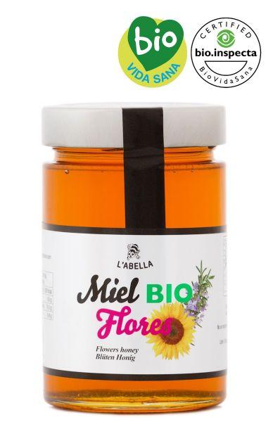 BIO Blütenhonig aus Spanien - Premium Qualität - reines Naturprodukt - kaltgeschleudert - im Glas