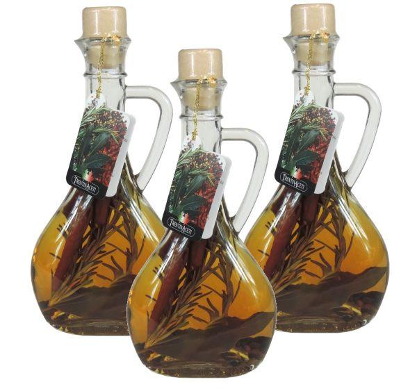 Kräuteressig - Weißweinessig mit Aroma - Kräuter Essig aus Italien - TrentinAcetia - 3x 250 ml