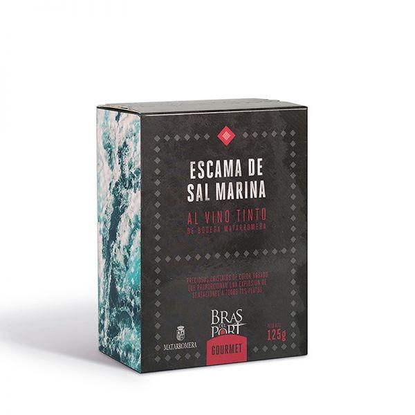 Meersalz Flocken - Flor de Sal - Fleur de Sel aus Spanien- mit Rotwein angereichert- 100 % natürlich