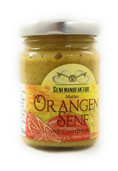 Feinster Orangen Senf von der Senf Manufaktur 1x 90 ml - Süßer Senf original aus Deutschland