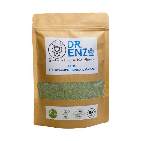 Dr. Enzo BIO Backmischung für Hundekekse - HanSi - Spinat, Knobi - 200g - nur 4ct pro Keks