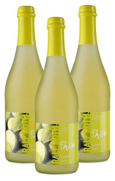 Palio - Limette Secco 3x 0,75l - Fruchtiger Perlwein - Prämiert aus Deutschland