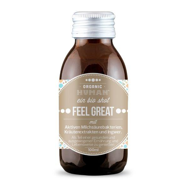 Organic Human - Bio Shot - Feel Great Ingwer mit Aktiven Milchsäurebakterien