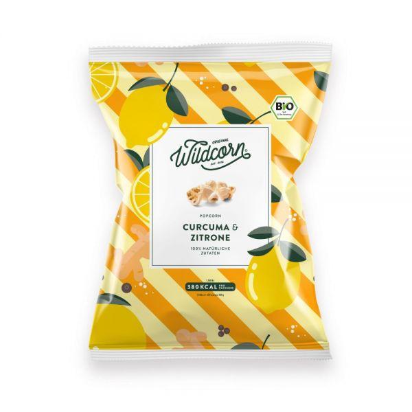 WILDCORN - Leckeres salziges Popcorn mit Curcuma & Zitrone 80g