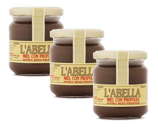 Spanischer Honig mit Blütenpollen - reines Naturprodukt ohne Zuätze in Premiumqualität - 3 x 250 g