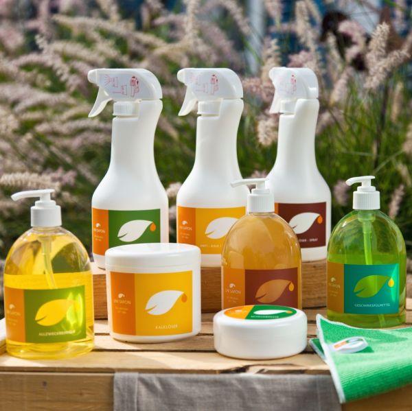 BIO Reinigungs - Basisset von Uni Sapon - 5 Produkte mit Zubehör - umweltschonend - chemiefrei