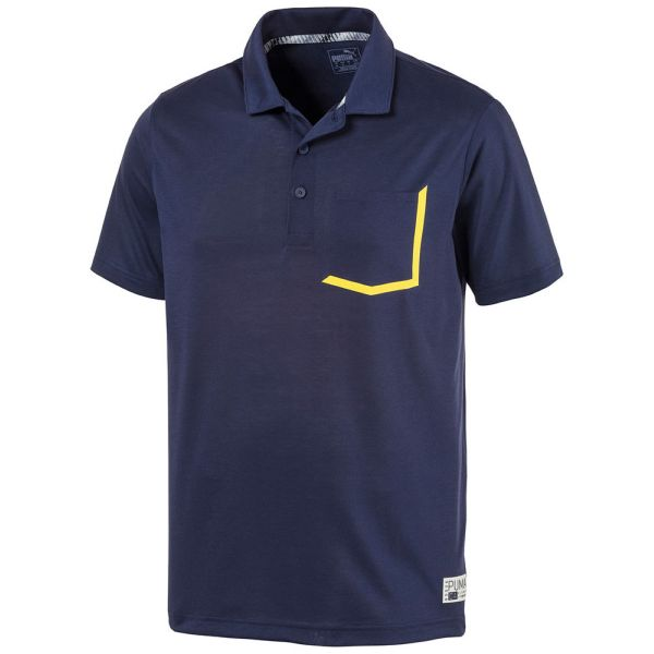Puma Herren Polo Farady - Golf Poloshirt - Peacoat-heather
