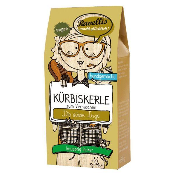 Ravellis Kürbiskerne mit Ingwer & Karamell (80 g) - Bio