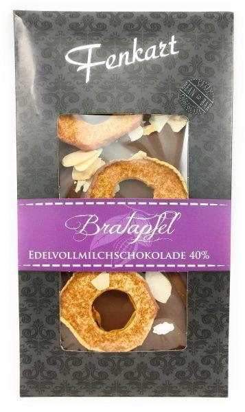 Bratapfel Schokolade 1x 100g - Fenkart Schokoladengenuss - Vollmilch Edelvollmichschokolade 40%