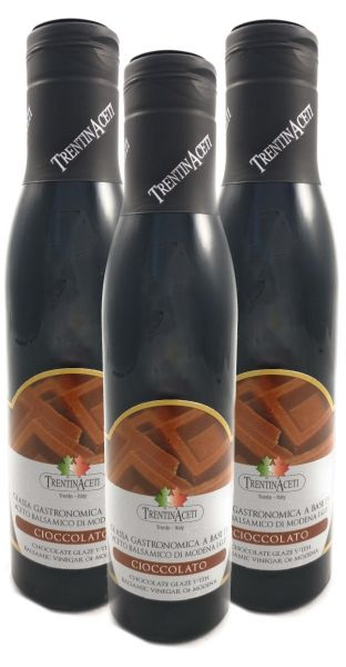Schokoladen Balsamico - Balsamico Creme mit Aroma aus Italien - 3x300 ml - Aceto Balsamico Di Modena