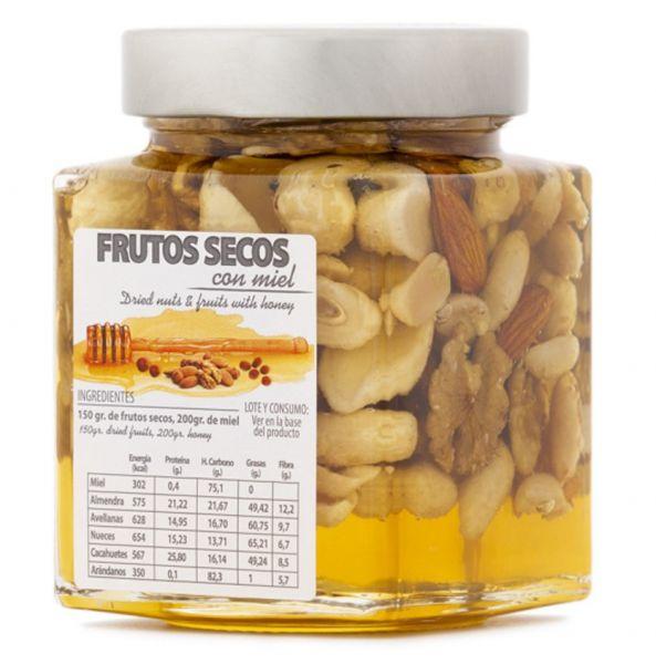 In spanischen Honig eingelegte Nussmischung - einzigartiges Produkt mit tollem Geschmack - 450 g