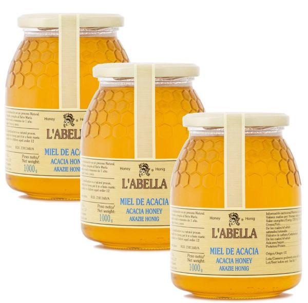 Echter Akazienhonig aus Spanien - Premium Qualität - reines Naturprodukt- kaltgeschleudert- 3 x 1 Kg