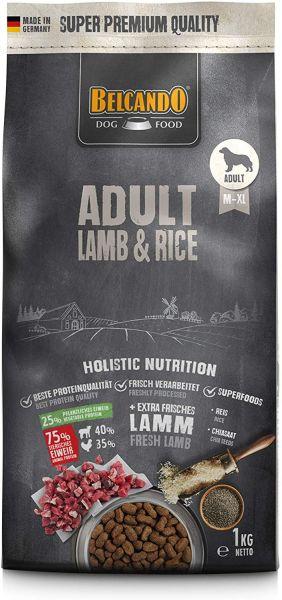 Belcando Adult Lamb & Rice Hundefutter 1kg   Trockenfutter für empfindliche Hunde   Alleinfuttermitt
