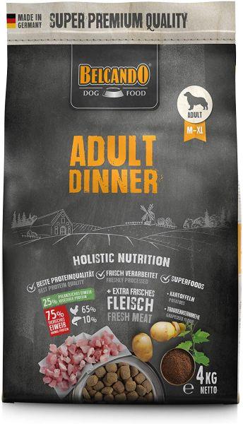 Belcando Adult Dinner Hundefutter 4kg | Trockenfutter für Hunde | Alleinfuttermittel für ausgewachse