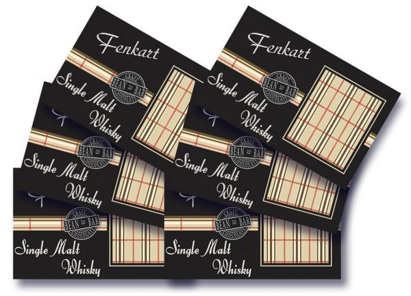 "Single Malt Whisky Schokolade 6x 80g - Fenkart Schokoladengenuss - ""Bean to Bar"" Schokolade"