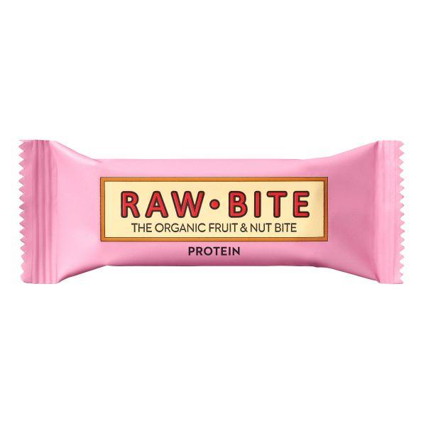 Raw Bite - Protein Riegel - Frucht-Nussriegel mit Reis- und Erbsenproteine