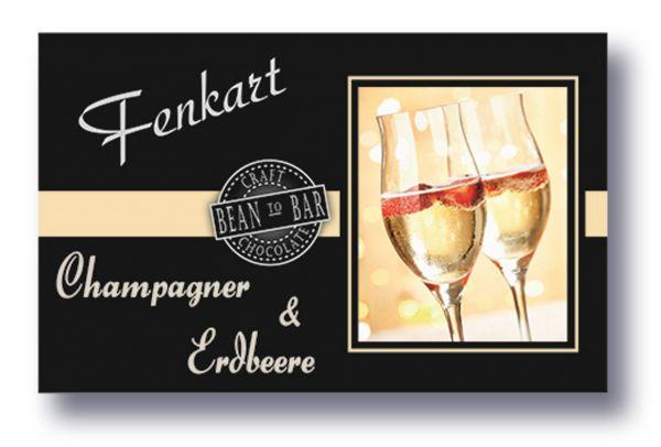"""Weiße Champagner & Erdbeere Schokolade 1x 80g - Fenkart Schokoladengenuss - """"Bean to Bar"""" Schokolade"""