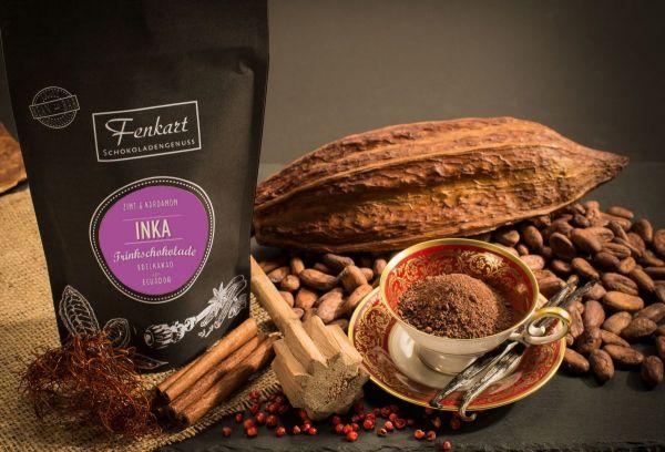 Trinkschokolade Zimt & Kardamom 200g | Inka Kakao Natur aus kräftigem Edelkakao aus Ecuador