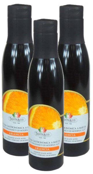 Orangen Balsamico - Balsamico Creme mit Aroma aus Italien - 3x300 ml - Aceto Balsamico Di Modena IGP