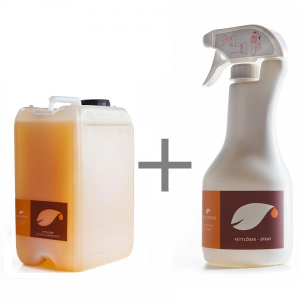 BIO Fettlöser 3 Liter SET Uni Sapon - Konzentrat - chemiefrei - umweltschonend - zertifiziert