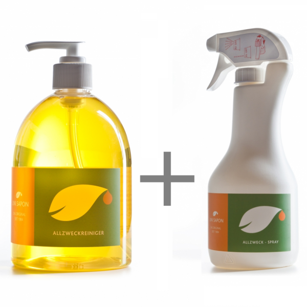 BIO Allzweckreiniger 500 ml SET Uni Sapon - Konzentrat - chemiefrei - umweltschonend - zertifiziert
