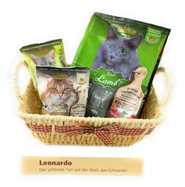 Leonardo Katzen-Geschenkkorb - Besondere Geschenkkörbe - Delikatessen-Präsentkorb