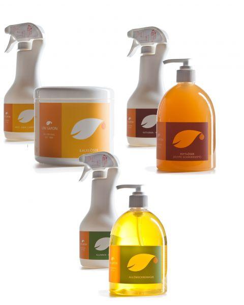 BIO Reinigungs - Starterset von Uni Sapon - 3 Produkte mit Zubehör - umweltschonend - chemiefrei