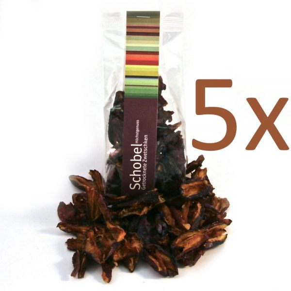 Getrocknete Zwetschgen 5x70g - vom Bodensee- Vitaminreich dank schonender Trocknung -Zwetschgen Chips