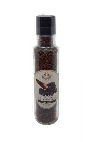 Italienischer Schwarzer Pfeffer - Pepe Nero - Mühle - höchste Qualität - 140 g