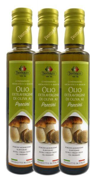 Extra Natives Olivenöl mit natürlichen Steinpilzaroma aus Italien - höchste Qualität - 3x250 ml