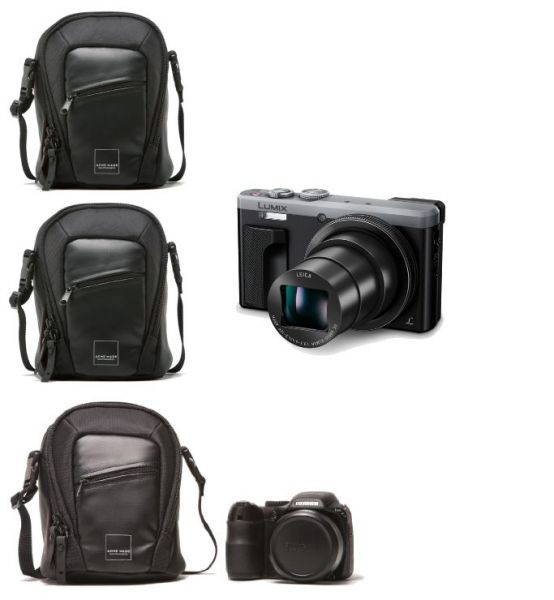ACME MADE - 3x Union Ultra Zoom Kameratasche schwarz- 0,7L - B 12,1 cm x T 10,2 cm x H 15,2 cm