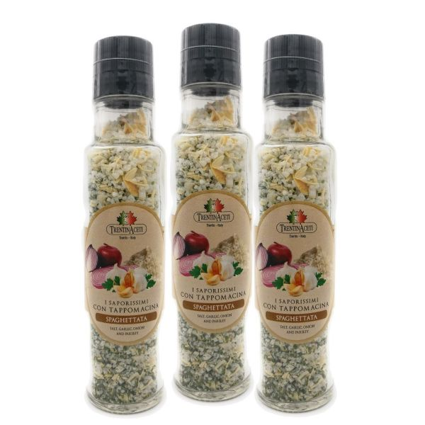 Italienische Spaghetti Gewürzmischung zum Kochen - Spaghetti Salz - höchste Qualität - 3x 220 ml