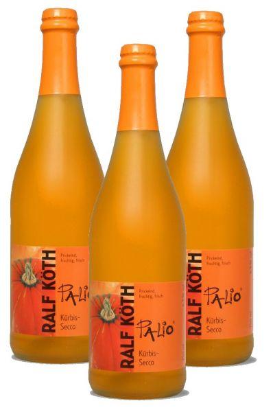Palio - Kürbis Secco 3x 0,75l - Fruchtiger Perlwein - Prämiert aus Deutschland