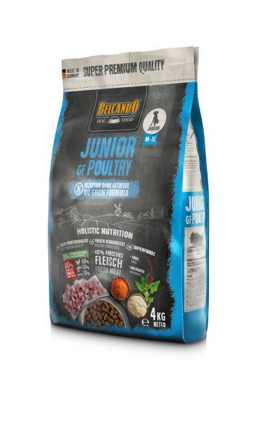 Hunde Trockenfutter - Junior Getreidefrei mit Geflügel 4kg - Belcando Hundefutter - leichtverdaulich