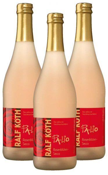 Palio - Rosenblüte Secco 3x 0,75l - Fruchtiger Perlwein - Prämiert aus Deutschland