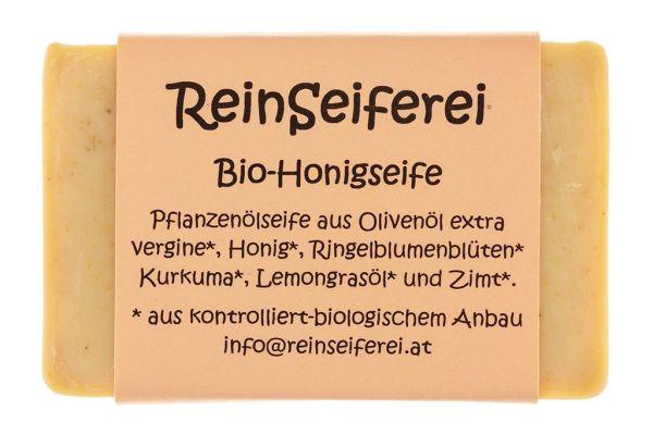 BIO - Honigseife - reine vegetarische Naturseife - kalt gerührte Handseife aus Österreich - 75 g