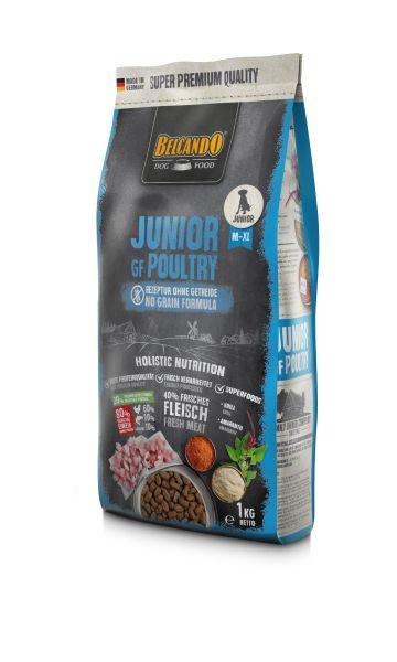 Hunde Trockenfutter - Junior Getreidefrei mit Geflügel 1kg - Belcando Hundefutter - leichtverdaulich